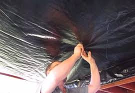Installing new vapor barrier under mobile home