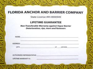 Lifetime guarantee-photo