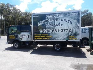 Florida Anchor and Barrier truck 4
